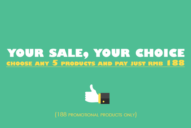 Your sale, your choice