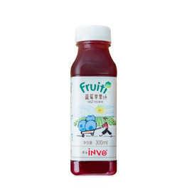 果的 100%冷压鲜榨蓝莓苹果汁