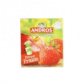 愛果士 蘋果草莓可吸果泥 90g*4