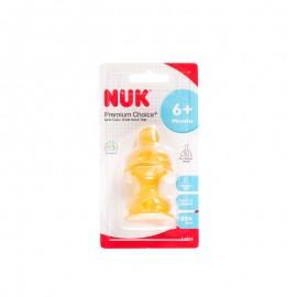 NUK 宽口乳胶奶嘴(成长型十字孔,两个卡装)