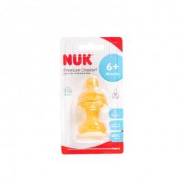 NUK 宽口乳胶奶嘴(成长型中圆孔,两个卡装)
