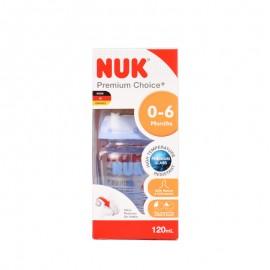 NUK 耐高温120ml宽口玻璃彩色奶瓶(配0-6个月乳胶中圆孔奶嘴)