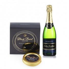 味觉极致之 黑珍珠皇家鱼子酱与法国天然型香槟