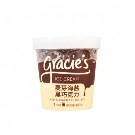 格喜麦芽海盐黑巧克力冰淇淋 350g
