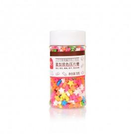 展艺 星型混色压片糖70g