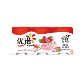 優諾優絲 草莓果粒風味發酵乳