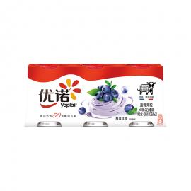優諾優絲藍莓果粒風味發酵乳