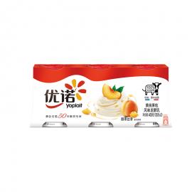 優諾優絲黃桃果粒風味發酵乳