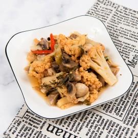 腌蘑菇白花菜-嘉席餐廳