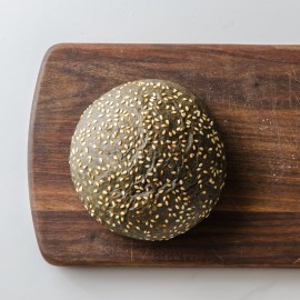 FIELDS BAKERY Activated Charcoal Brioche Seeded Roll