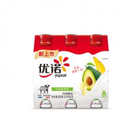 優諾牛油果香蕉風味酸乳