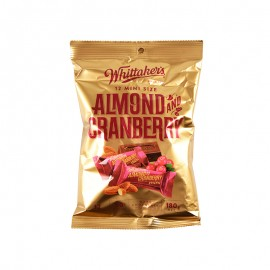 Whittaker's 12 Mini Size Almond & Cranberry Dark Chocolate Slabs