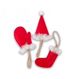 Hat, Glove & Stocking Christmas Tree Decorations