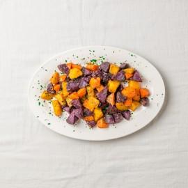 烤黃油胡蘿卜、土豆及紫薯