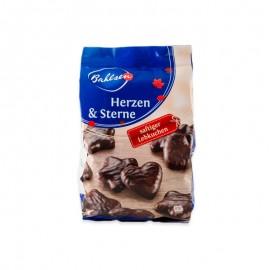 Bahlsen Heart & Stars Dark Chocolate Gingerbread Cookies