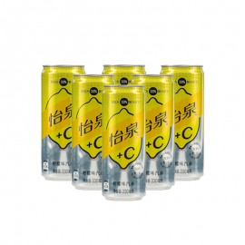 怡泉+C檸檬味汽水 330ml*6