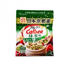 Calbee?抹茶味水果麥片 450g